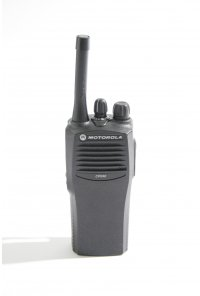 Walkie Talkie (Analog) m. Ersatzakku u. Headset (Earbud)